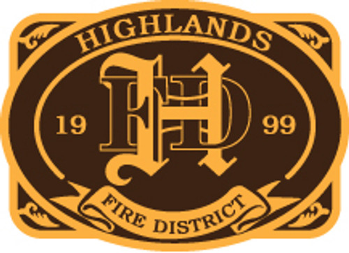 Highlands Fire District Buckle (RESTRICTED)