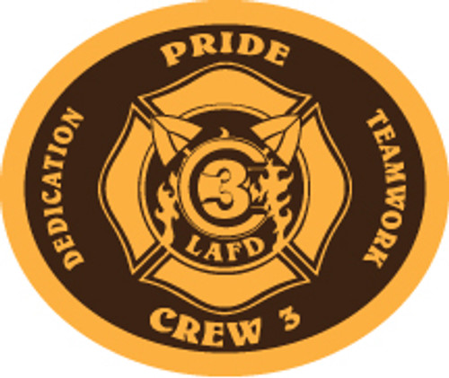 LA County Fire Department Crew 3 Buckle (RESTRICTED)
