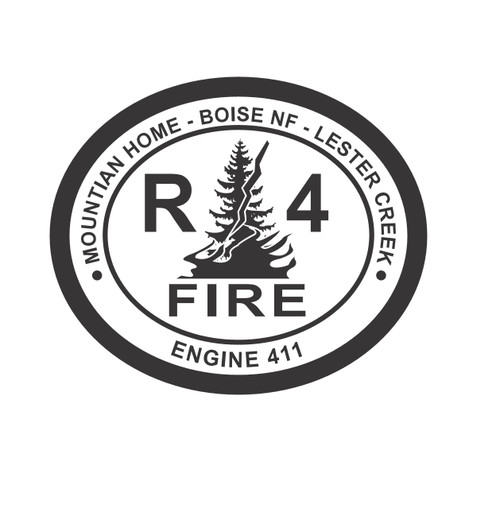 Boise National Forest R4 Fire Engine 411 Buckle (RESTRICTED)