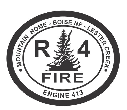 Boise National Forest R4 Fire Engine 413 Buckle (RESTRICTED)