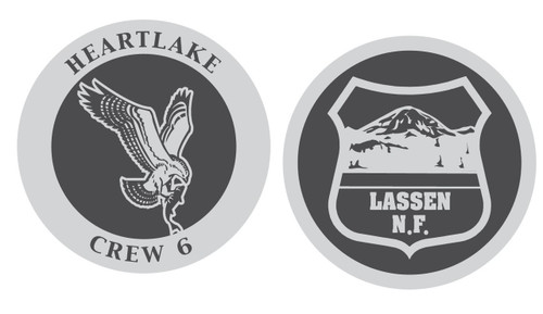 Heartlake Crew 6 Lassen National Forest Coin (RESTRICTED)
