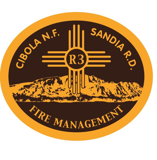 Cibola National Forest Sandia Ranger District Fire Management Buckle (RESTRICTED)
