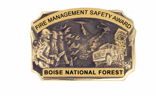 Boise National Forest Fire Management Safety Award Buckle (RESTRICTED)