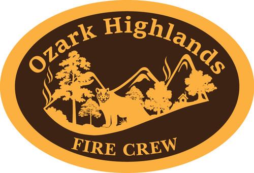 Ozark Highlands Fire Crew Belt Buckle (RESTRICTED)