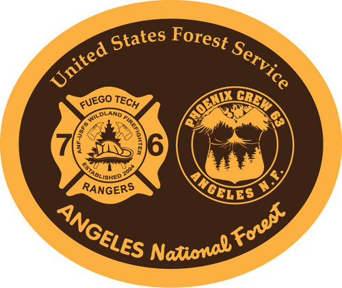 Angeles National Forest 2 Fire Crews  Belt Buckle (RESTRICTED)