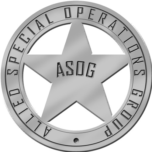 Allied Special Operations Group Custom Cast Pins