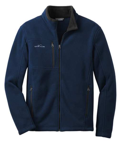MENS - Eddie Bauer River Blue Fleece Jacket - Large - No LOGO