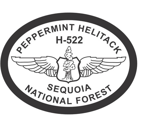 Peppermint Helitack H-222 Sequoia National Forest Buckle (RESTRICTED)