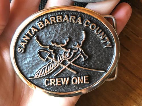 Santa Barbara Crew- SPECIAL BACKPLATE  Belt Buckle (RESTRICTED)