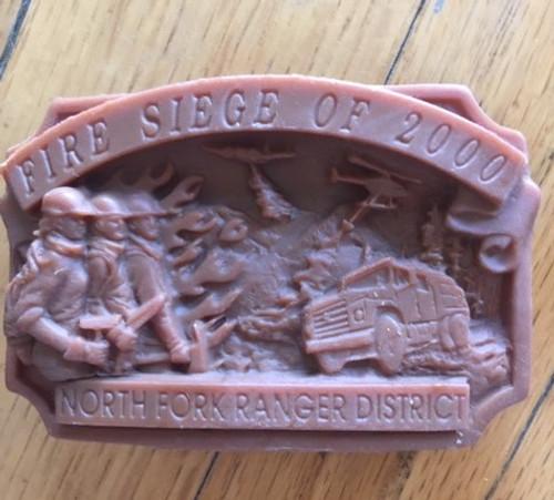 Fire Siege of 2000 North Fork Ranger District Buckle