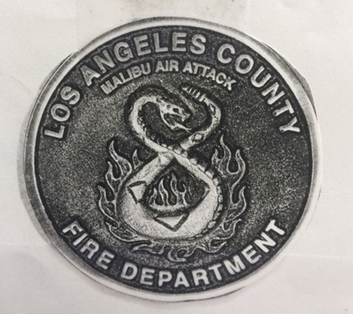 Malibu Air Attack Los Angeles County Fire Department Buckle (RESTRICTED)