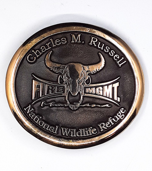 Charles M Russell National Wildlife Refuge Buckle