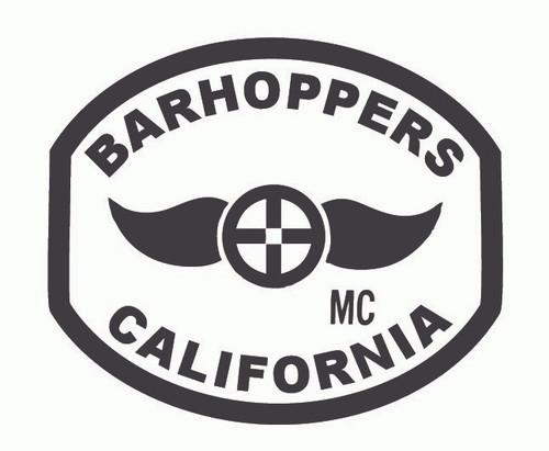Barhoppers Motorcycle Club California Buckle