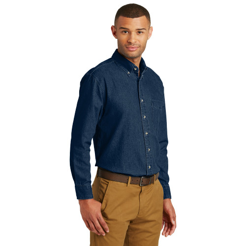 XL BLM Men's Long Sleeved Dark Denim Shirt 30% Off
