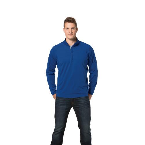 Men's Small TRUE ROYAL FWS Volunteer Sport-Tek® Sport-Wick® Stretch 1/2-Zip Pullover - 30% OFF