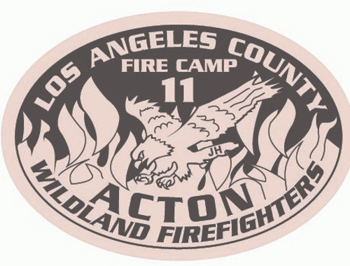 Los Angeles County Fire Camp 11 Buckle (RESTRICTED)