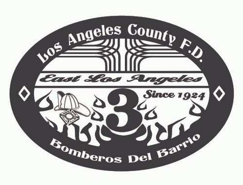 Los Angeles County Fire Department Bomberos Del Barrio Buckle (RESTRICTED)