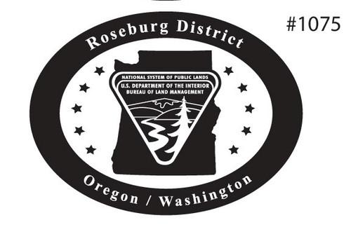Oregon Washington Roseburg District Bureau of Land Management Buckle