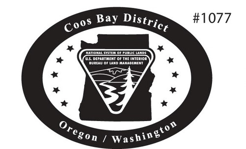 Oregon Washington Coos Bay District Bureau of Land Management Buckle