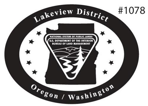 Oregon Washington Lakeview District Bureau of Land Management Buckle