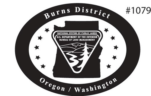 Oregon Washington Burns District Bureau of Land Management Buckle
