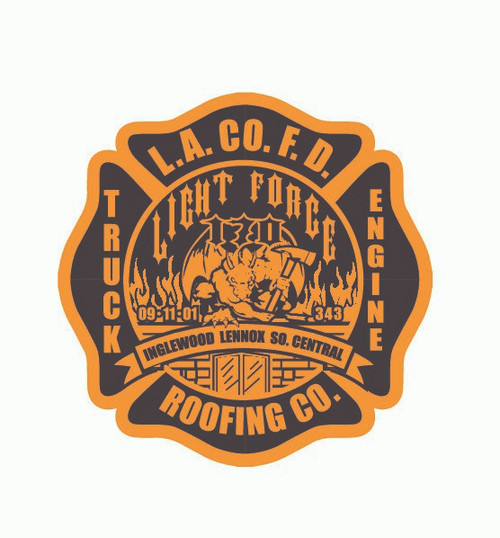 Los Angeles County Fire Department Roofing Company Buckle (RESTRICTED)
