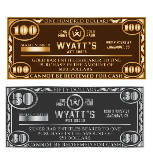 Wyatt's Wet Goods $50 Silver Alloy Bar (RESTRICTED)