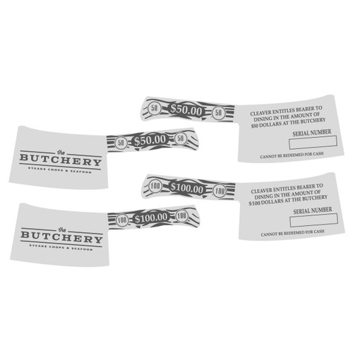 The Butchery Gift Cards $100 Silver Alloy (RESTRICTED)