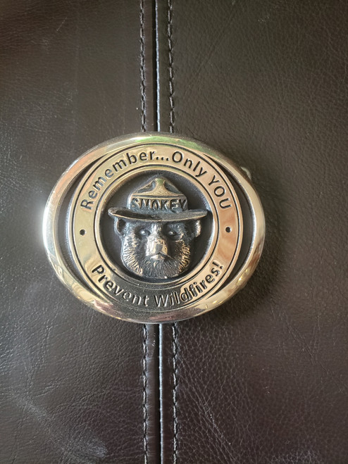 Smokey Bear Remember Only You Buckle