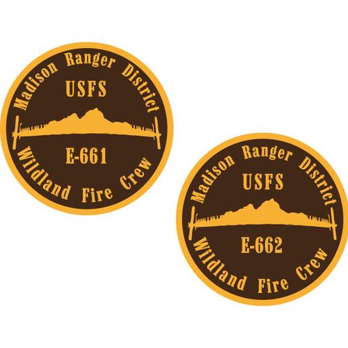 Madison Ranger District Wildland Fire Crew Coin- BRONZE