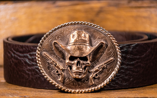 Cowboy Skull & Guns Buckle