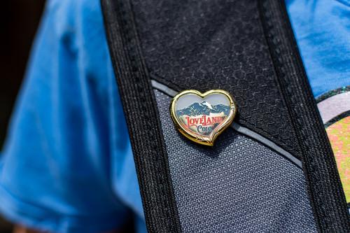 Loveland Colorado Heart Pin
