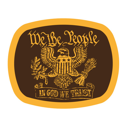 The Man Spot Eagle We the People Buckle (RESTRICTED)*WS