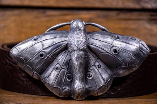 Raven Saint- Moth Buckle