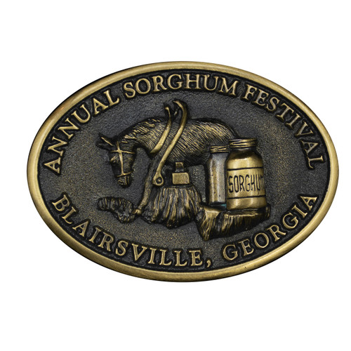 Annual Sorghum Festival Buckle
