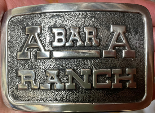 A Bar A Ranch Buckle RECTANGLE OLD(RESTRICTED)