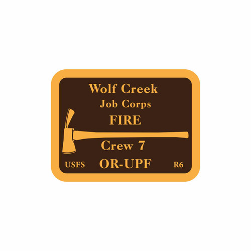 Wolf Creek Job Corps Fire Buckle (RESTRICTED)