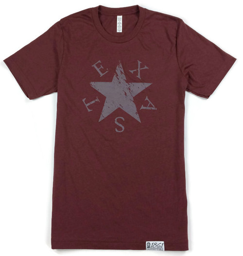 The Lone Star T-Shirt (Maroon)