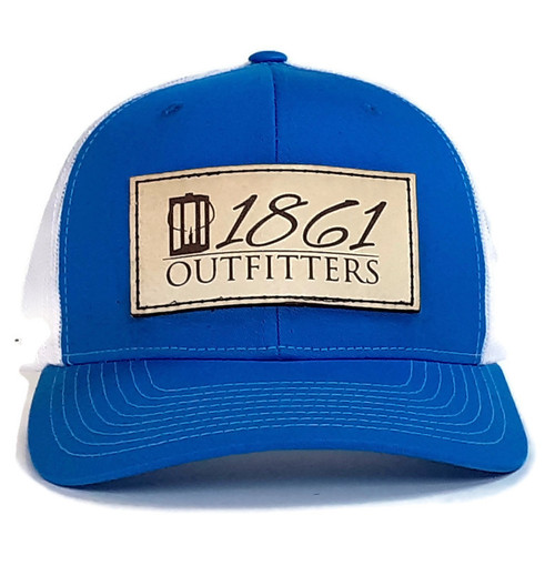 1861 Outfitters Cyan / White Mesh Logo Hat