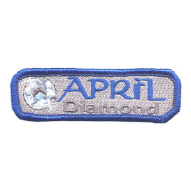 S-1503 Birthstone- Apr-Diamond Patch