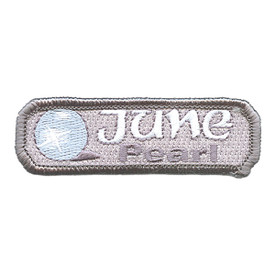 S-1505 Birthstone-June-Pearl Patch