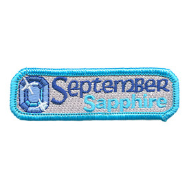 S-1508 Birthstone-Sept-Sapphire Patch