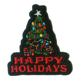 S-1578 Happy Holidays Patch