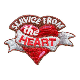 S-1671 Service From The Heart Patch