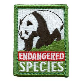 S-1728 Endangered Species Panda Patch
