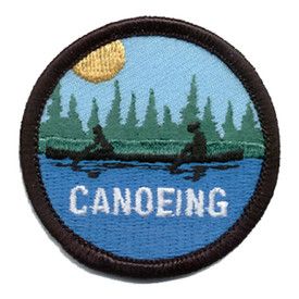 S-0004 Canoeing-Silhouette Patch