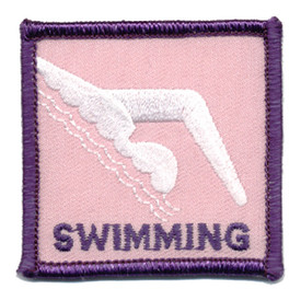 S-0014 Swimming-White Swimmer Patch