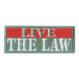 S-1821 Live The Law Patch