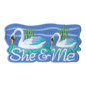 S-1851 She & Me (Swans) Patch