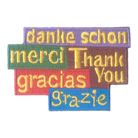 S-1925 Thank You (5 Languages) Patch